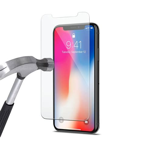 vitre avant de protection en verre tremp 233 pour iphone xr evetane