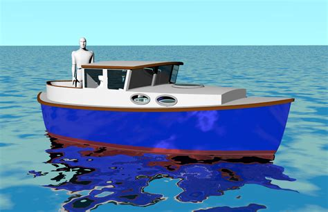 displacement fishing boat plans boat designs
