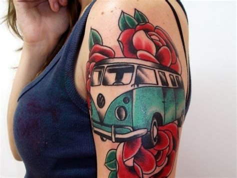 vw bus tattoo volkswagen maybe volkswagen