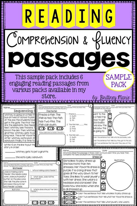 themes for reading passages 17 best images about reading fluency on pinterest