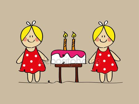 imagenes cumpleaños gemelas tarjetas de cumplea 241 os para gemelas imagui