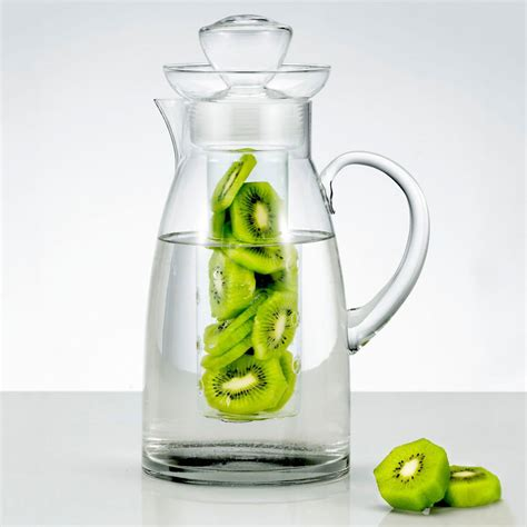 Infuse Water Jug artland sedona glass pitcher with flavor infuser the