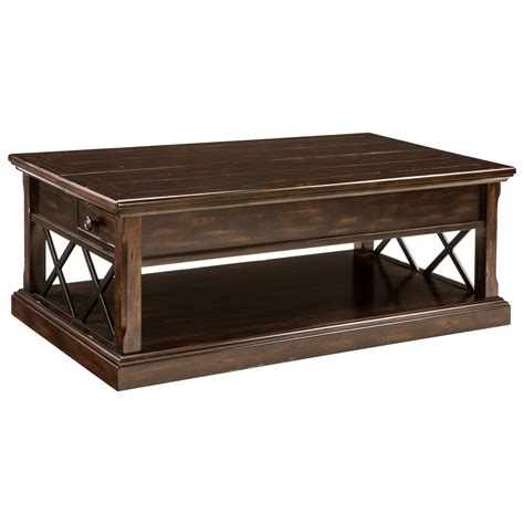 Coffee Table Furniture Stores Signature Design Roddinton T701 9 Lift Top Cocktail Table With 2 Side Drawers Dunk