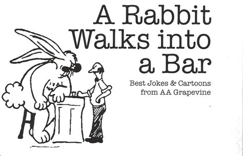 al a aa a rabbit walks into a bar aa humor my 12 step store