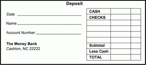 Checking Deposit Slip Template by 10 Deposit Slip Templates Excel Templates