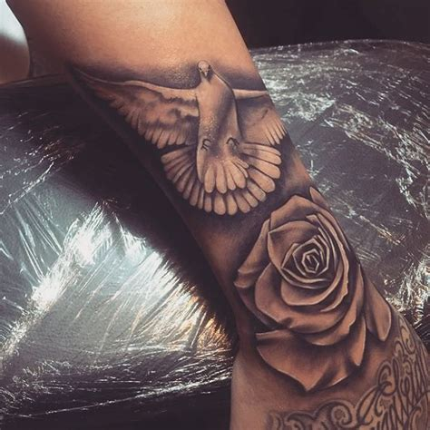 dove rose tattoo and dove designs for