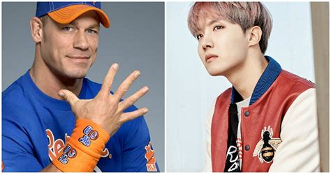 bts j hope biography john cena just posted a picture of bts j hope on his instagram