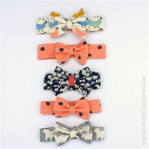 sewing pattern headband bow headband tutorial by sew not perfect