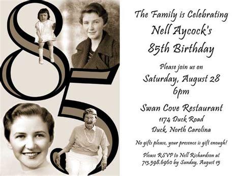 85th Birthday Party Invitations Cimvitation 85th Birthday Invitation Template