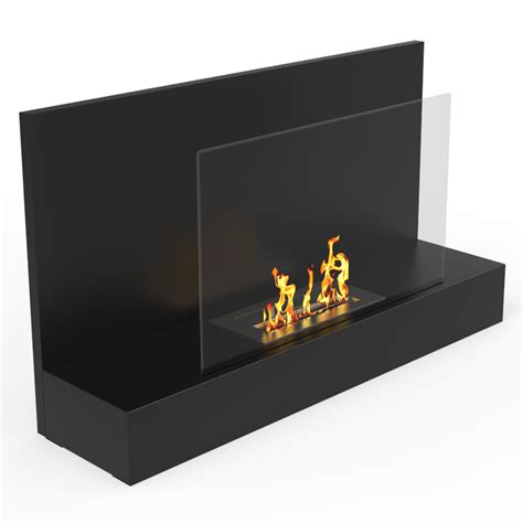 In Wall Ethanol Fireplace by Regal Tucson Wall Mounted Ethanol Fireplace In Black