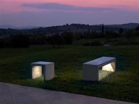 panchina in cemento panchina in cemento con illuminazione integrata collezione