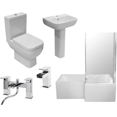 Allbits Plumbing Heating Supplies Ltd by Allbits Square Shower Bath Bathroom Suite Rh 163 618 00 At
