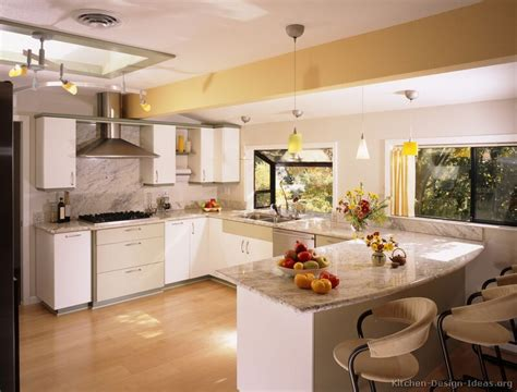 Modern White Kitchen Cabinets by Pictures Of Kitchens Style Modern Kitchen Design