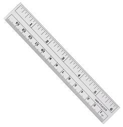 ruler clear plastic 15 cm