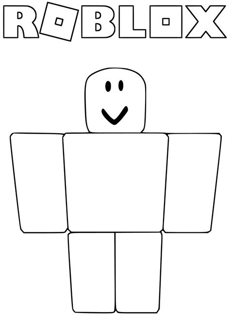 printable coloring pages roblox noob from roblox coloring pages get coloring pages