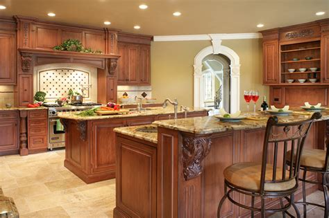 houzz com kitchen islands traditional two islands in franklin lakes