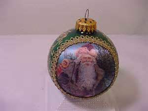 vintage 1991 christmas by krebs santa on silk ornament in