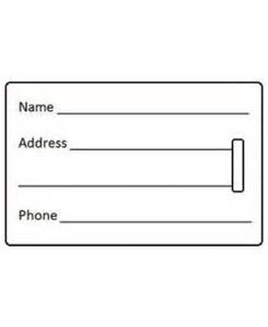 Luggage Tag Insert Template by Luggage Tags Luggage Pros