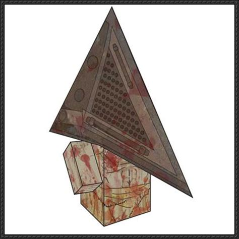 silent hill pyramid cube craft free paper