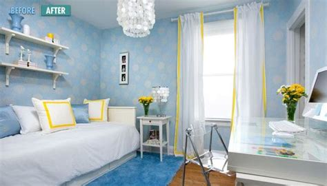 Light Blue And Yellow Bedroom I Ve Always Loved The Yellow Blue Color Palette Even Though This Photo Is A Kid S Room I