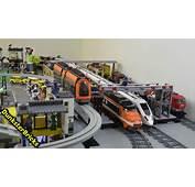 LEGO Train Track Layout With 7 Foot MOC Bridge Big