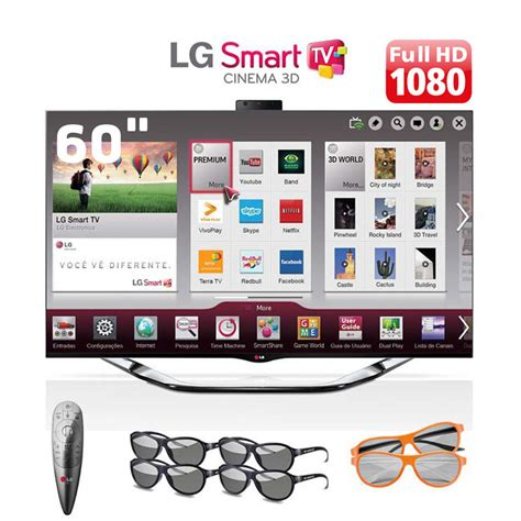 Smart Tv 60 smart tv 3d led lcd 60 quot cinema hd lg 60la8600