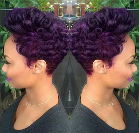 purple hairstyles for black women short purple hair cut for the african american woman