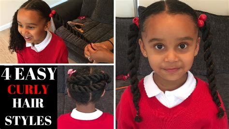 Hairstyles For Curly Hair Back To School by 4 Curly Hair Styles Back To School Hair Styles Hair
