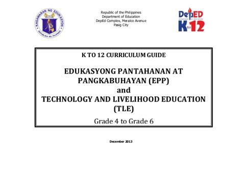 thesis about technology and livelihood education edukasyong pantahanan at pangkabuhayan and technology and