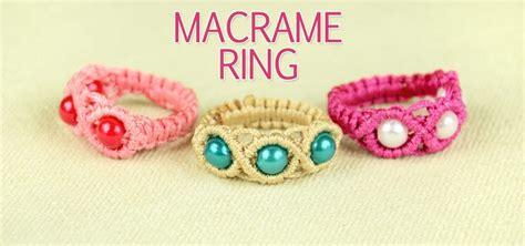 How To Make Macrame - how to make a macrame ring 171 jewelry