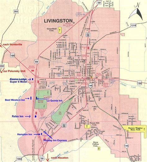 livingston texas map a visitor s guide for texas row