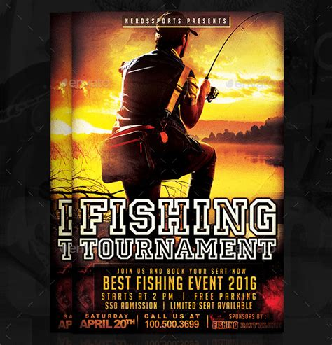 fishing tournament flyer template 20 fishing flyer templates free premium