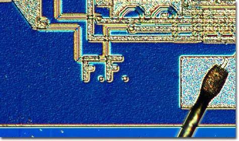 what 1971 integrated circuit has federico faggin s initials molecular expressions the silicon zoo federico faggin