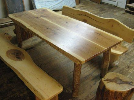hickory dining set farm table benches stools