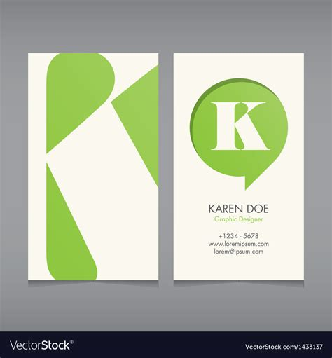 business card template us letter svg business card template letter k royalty free vector image