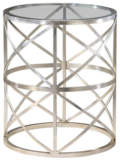 round glass top accent table round glass top table silver finish side tables and