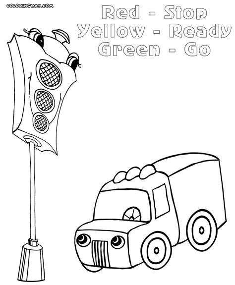 Traffic Light Coloring Page Coloring Home Printable Coloring Pages For Adults Stop Light