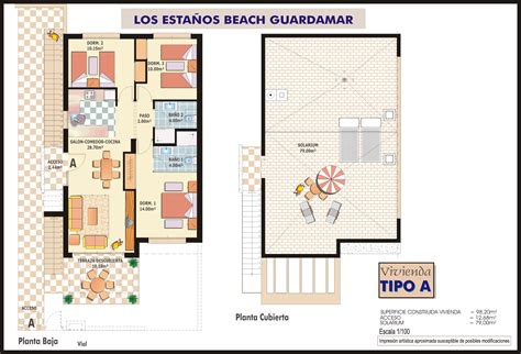 medcottage floor plan 3 bed top floor apartment in guardamar quality spanish