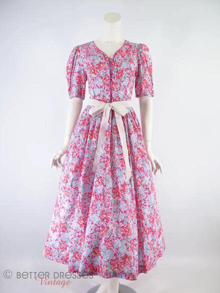 laura ashley floral cotton dress sm