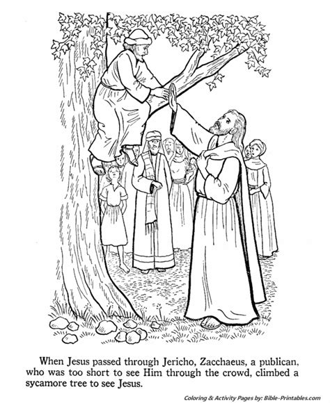 coloring pages jesus teaching jesus teaches coloring pages zacchaeus climbs a tree to
