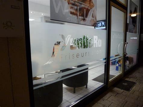 Schaufensterbeschriftung Friseur by Schaufenster Beschriftung Sticker Werk