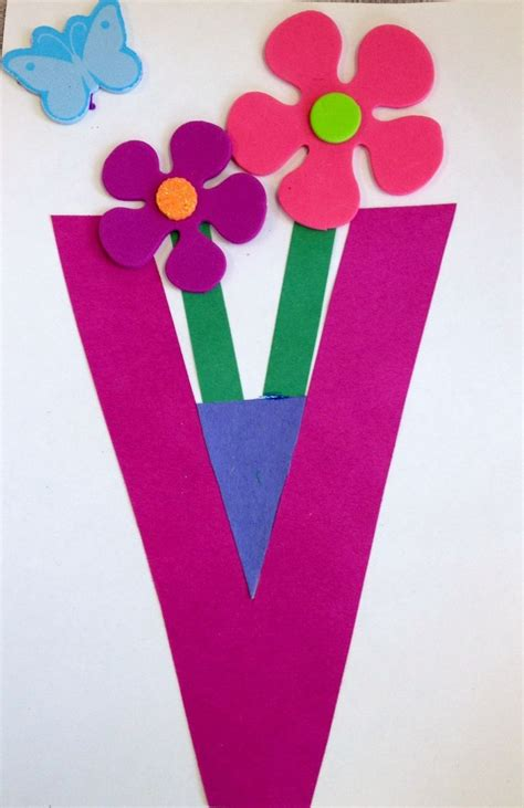 crafts for at letter v craft site about children
