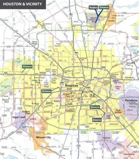houston texas city map a visitor s guide for texas row