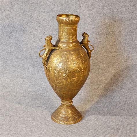 antiques atlas large brass vase engraved urn