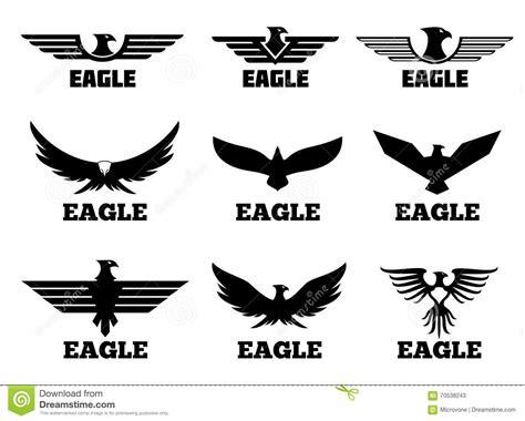 eagles vector logo set stock vector image of badge