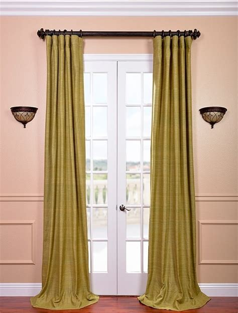 Spanish Moss Raw Silk Curtain Contemporary Curtains