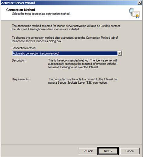 remote desktop 443 installing remote desktop license server on server 2008 r2