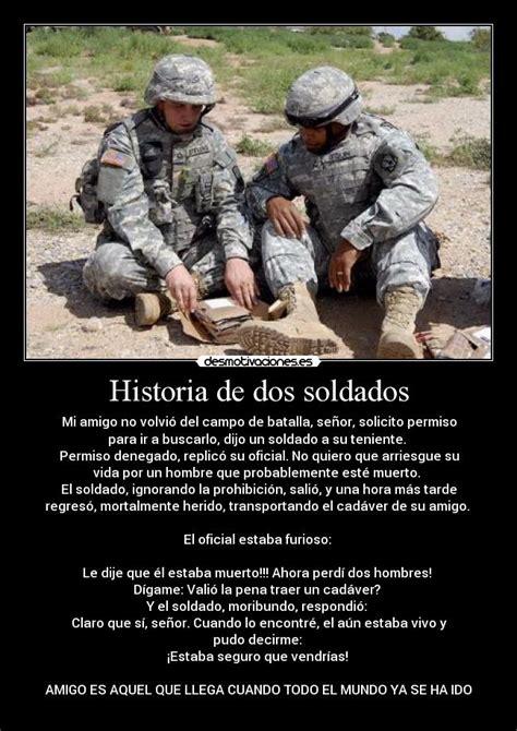 imagenes con frases militares historia de dos soldados desmotivaciones