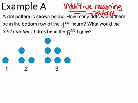inductive pattern paragraph exles inductive reasoning from patterns ck 12 foundation