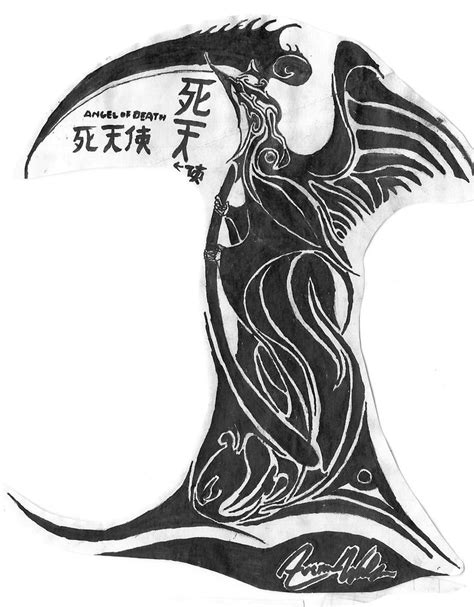 tribal reaper tattoo designs grim reaper tribal by drkvenom on deviantart